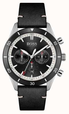 BOSS Santiago | cadran noir | bracelet en cuir noir 1513864