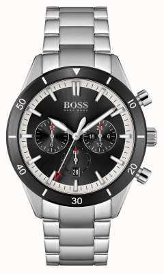 BOSS Santiago | cadran noir | bracelet en acier inoxydable 1513862
