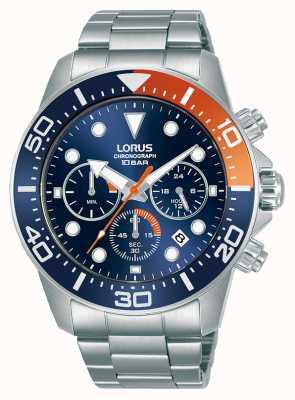 Lorus Hommes | chronographe | cadran bleu | bracelet en acier inoxydable RT345JX9