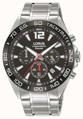 Lorus Hommes | chronographe | cadran noir | bracelet en acier inoxydable RT335JX9