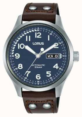 Lorus Hommes | automatique | cadran bleu | bracelet en cuir marron RL463AX9