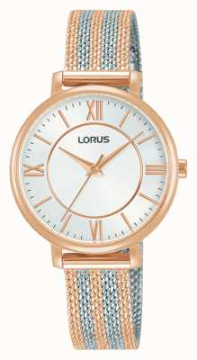 Lorus Femmes | cadran blanc | bracelet en maille bicolore RG216TX9