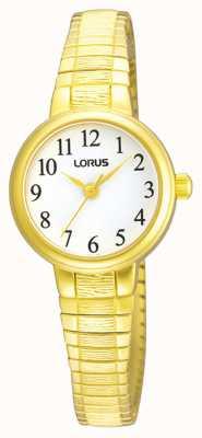 Lorus Femmes | cadran blanc | bracelet extensible en acier inoxydable or RG236NX9