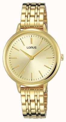 Lorus Femmes | cadran or soleillé | bracelet en acier plaqué pvd or RG204QX9