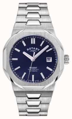 Rotary Hommes | régent | automatique | cadran bleu | bracelet en acier inoxydable GB05410/05