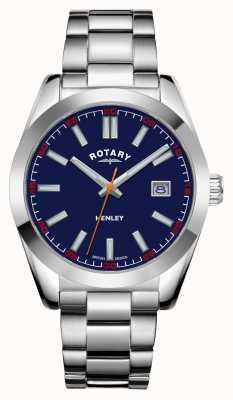 Rotary Hommes | henley | cadran bleu | bracelet en acier inoxydable GB05180/05