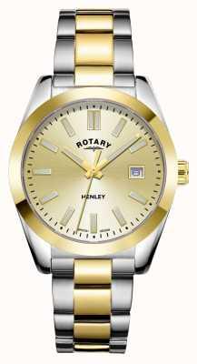 Rotary Femmes | henley | cadran champagne | bracelet en acier inoxydable bicolore LB05181/03