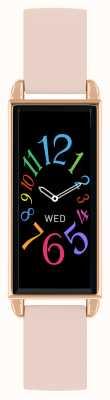 Reflex Active Montre intelligente série 2 | écran tactile couleur | bracelet en cuir rose RA02-2006