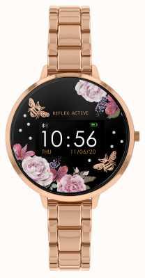 Reflex Active Montre intelligente série 3 | bracelet en acier or rose RA03-4012