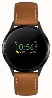 Reflex Active Montre intelligente série 4 | écran tactile couleur | bracelet marron RA04-1000