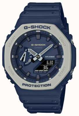 Casioak | bracelet en résine bleu | cadran bleu GA-2110ET-2AER