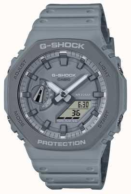 Casio Série octogone | bracelet en résine grise | cadran gris GA-2110ET-8AER