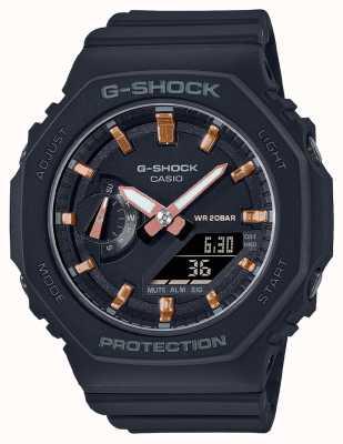 Casio G-shock de taille moyenne | bracelet en résine noire | cadran noir GMA-S2100-1AER