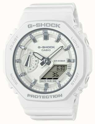 Casio G-shock de taille moyenne   bracelet en résine blanche   cadran blanc GMA-S2100-7AER