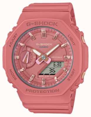 Casio G-shock de taille moyenne | bracelet en résine rose | cadran rose GMA-S2100-4A2ER