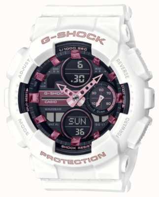 Casio G-shock   sports unisexes   bracelet en résine blanche   cadran noir GMA-S140M-7AER