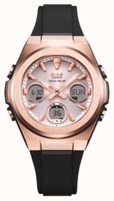 Casio G-shock   msg-rose-or ip   bracelet en résine noire   MSG-S600G-1AER