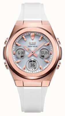 Casio G-shock   msg-rose-or ip   bracelet en résine blanche MSG-S600G-7AER