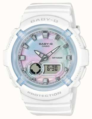Casio Baby-g   bracelet en résine blanche   cadran multicolore BGA-280-7AER