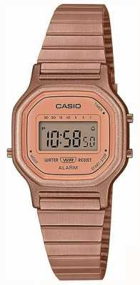 Casio Vintage   bracelet en acier plaqué or rose   affichage numérique LA-11WR-5AEF
