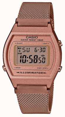 Casio Vintage   numérique   bracelet en maille pvd or rose B640WMR-5AEF