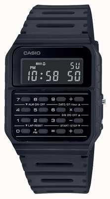 Casio Montre calculatrice rétro | bracelet en résine noire | cadran noir CA-53WF-1BEF