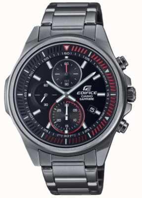 Casio Edifice-collection classique | bracelet en acier inoxydable | cadran noir EFR-S572DC-1AVUEF