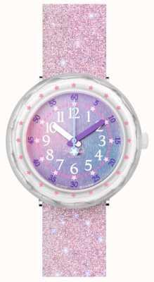 Flik Flak Perlaxus   bracelet en silicone rose pailleté   cadran multicolore FCSP107