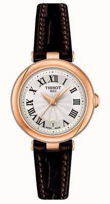 Tissot Bellissima | cadran argenté | bracelet en cuir marron T1260103601300
