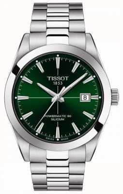 Tissot | messieurs automatique | powermatic 80 | bracelet en acier inoxydable | cadran vert | T1274071109101