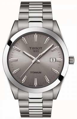Tissot Messieurs titane | bracelet argent / titane gris | cadran gris T1274104408100