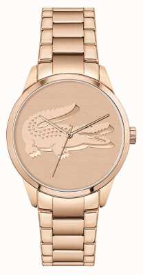 Lacoste Ladycroc | bracelet en acier or rose pour femme | cadran en or rose 2001172