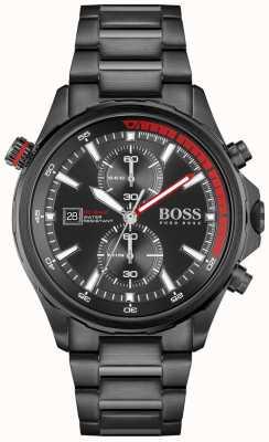 BOSS Globetrotter | chronographe | cadran noir | bracelet en acier pvd noir 1513825