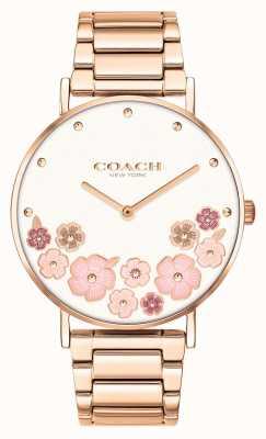 Coach Perry | bracelet acier or rose pour femme | cadran fleuri 14503768