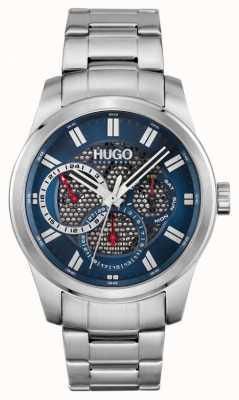 HUGO #squelette | bracelet en acier inoxydable pour hommes | cadran bleu 1530191
