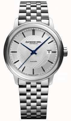 Raymond Weil Maestro | bracelet en acier inoxydable pour homme | cadran argenté 2237-ST-65001
