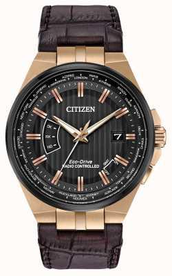Citizen Le monde des hommes perpétuel à | bracelet en cuir marron CB0168-08E
