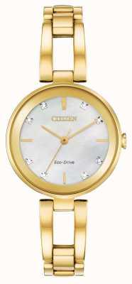 Citizen Cadran diamant Eco-Drive pour femme EM0802-58D