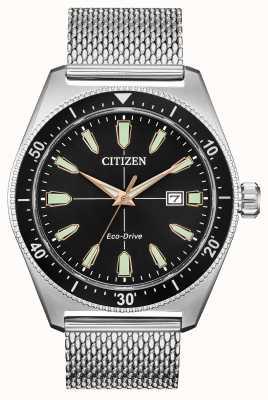 Citizen Acier inoxydable eco-drive pour hommes AW1590-55E