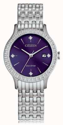 Citizen Boîtier en cristal Eco-Drive pour femme FE1200-51L