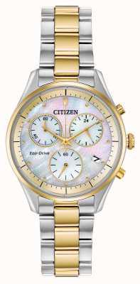 Citizen Bracelet chronographe eco-drive pour femme FB1444-56D