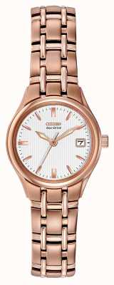 Citizen Bracelet femme éco-drive en or rose EW1263-52A