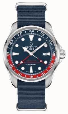 Certina Ds action gmt | bracelet en tissu bleu | cadran bleu | automatique C0324291804100