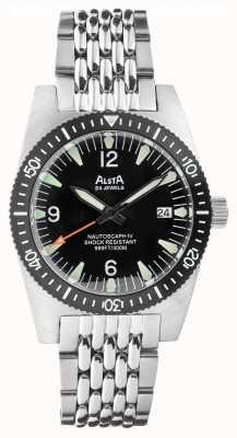 Alsta Nautoscaphe iv | automatique | cadran noir | bracelet en acier inoxydable NAUTOSCAPH IV
