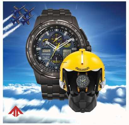 Citizen Radiocommandé eco-drive pour hommes | promaster skyhawk | anges bleus | boîte de présentation de casque JY8097-58L