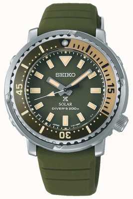 Seiko Prospex   bracelet en silicone vert   cadran vert SUT405P1