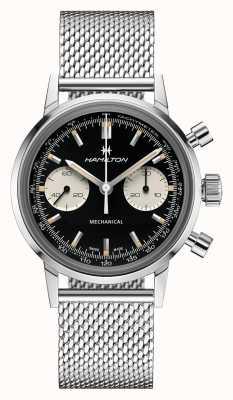 Hamilton Intramatic | chronographe cadran noir | bracelet en maille d'acier H38429130