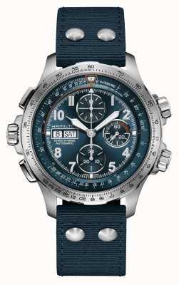 Hamilton Kaki aviation x-wind | automatique | chronographe | cadran bleu H77906940