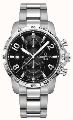 Certina Ds podium chrono | bracelet en acier inoxydable | cadran noir C0344271105700