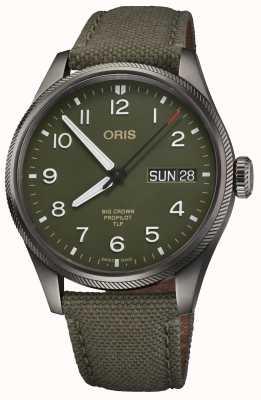 ORIS Edition limitée TLP | bracelet textile vert | cadran vert 01 752 7760 4287-SET